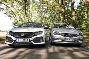 Opel Astra/Honda Civic: Test