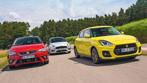 Suzuki Swift/Ford Fiesta/Seat Ibiza: Test