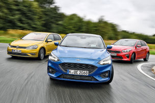 Ford Focus/Kia Ceed/VWGolf: Test