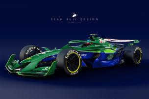Retro-Lackierungen auf F1-Studie