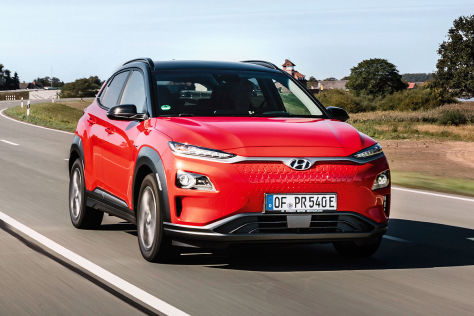hyundai kona elektro im test 613 kilometer unter strom. Black Bedroom Furniture Sets. Home Design Ideas