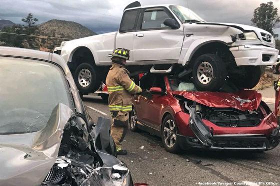 Pick-Up-Truck steht auf Honda