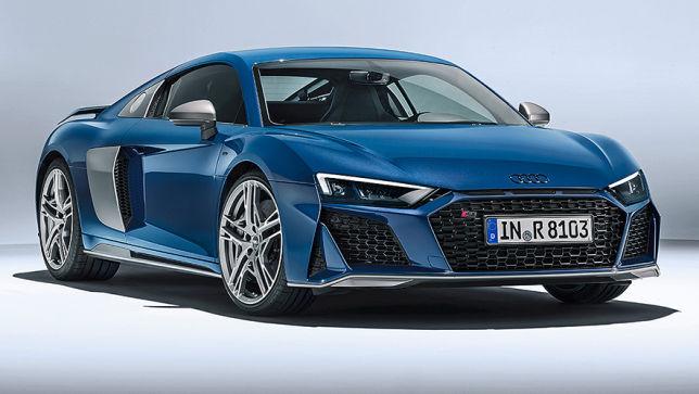 video audi r8 facelift 2018. Black Bedroom Furniture Sets. Home Design Ideas