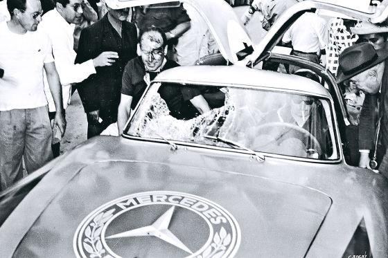 Mercedes 300 SL auf der Carrera Panamericana 1952