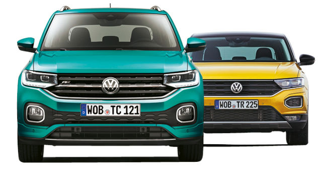 video vw t cross vs vw t roc 2018. Black Bedroom Furniture Sets. Home Design Ideas