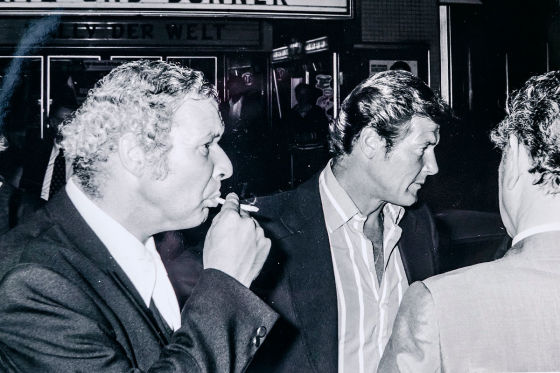 Klaas Akkermann (l.) und Roger Moore