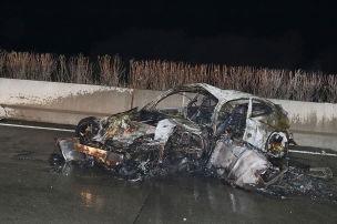 Porsche geht in Flammen auf