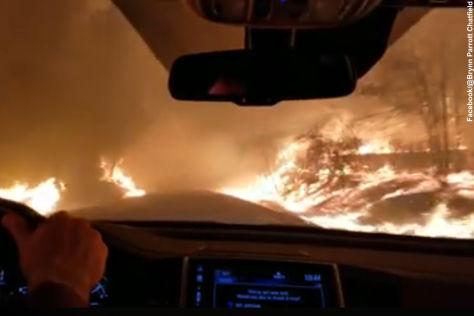 Waldbrände in Kalifornien: Video
