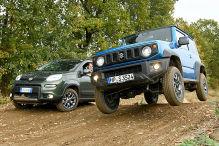 Fiat Pnada 4x4/Suzuki Jimny: Test