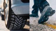 Hightech-Schuhe mit Reifenprofil