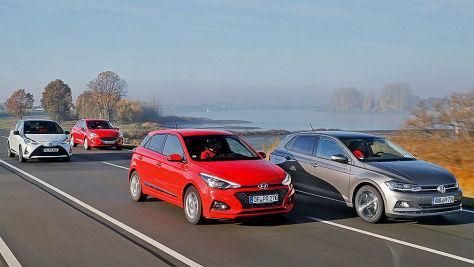 VW Polo/Ford Fiesta/Hyundai i20/Toyota Yaris: Test