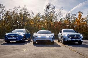 Drei deutsche Tesla-Jäger