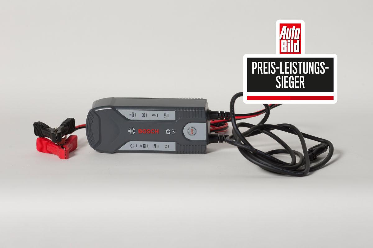 Ladegeräte im Test - Bosch C3 Preis- Leistung- Sieger