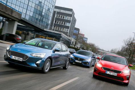 Kia Ceed Vs Ford Focus Und Honda Civic Im Diesel Test Autobild De