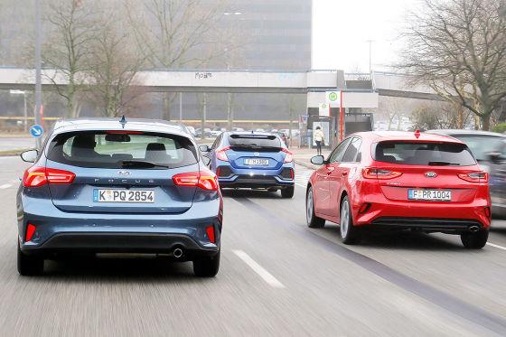 Ford Focus Honda Civic Kia Ceed