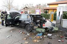 Audi A3 g-tron: Explosion