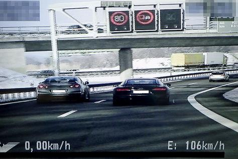 Illegales Straßenrennen bei München