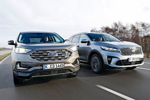 Ford Edge/Kia Sorento: Test