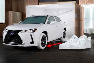 Lexus-SUV trägt Nike-Sneaker