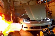 Chevrolet Corvette mit 1330 PS schießt Feuer