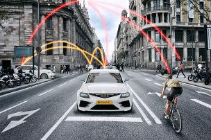 Schutzschild für Radler und Fußgänger