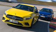 Mercedes-AM A 35 vs. VW Golf R: Test