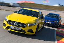 Mercedes-AMG A 35 gegen VW Golf R