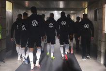 DFB-Team schon mit neuem VW-Logo