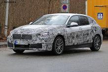 Beifahrer im BMW 1er Erlkönig