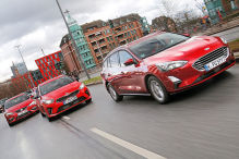 Ford Focus Turnier, Kia Ceed SW, Seat Leon ST: Kombis im Test