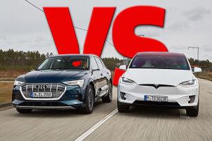 Audi vs. Tesla � Elektro-SUVs im Duell