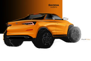 Skoda Kodiaq Pick-up (2019): Azubi Concept Car