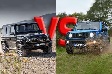 Suzuki Jimny vs. Mercedes-AMG G 63: Duell