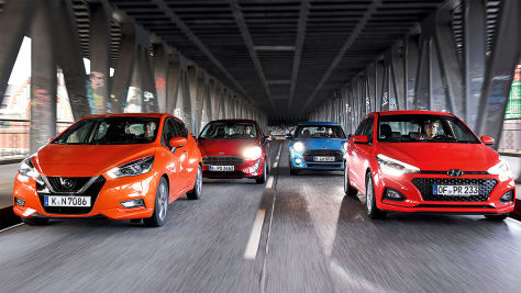 Fiesta, Mini, Micra, i20: Test