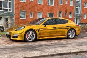 Gold-Porsche gestoppt und einkassiert