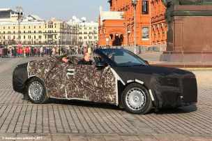 Putins Staatskarosse als Cabrio