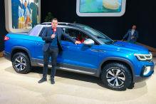 VW zeigt einen T-Roc Pick up