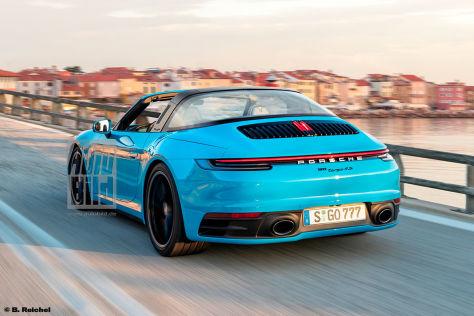 Porsche 911 992 Targa 2020 Erlkonig Motor Marktstart