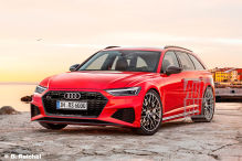 Audi RS 6 Avant Front (2019): Grill, A7, Kombi, Illustration