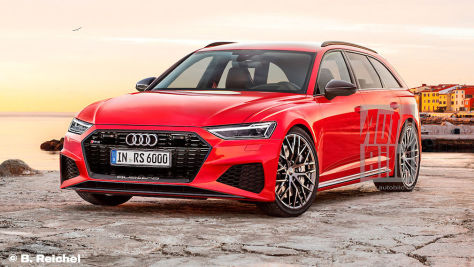 Audi RS 6 Avant: Frontansicht (Illustration)