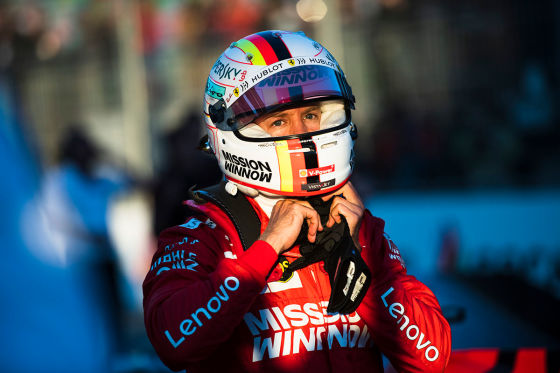 Sebastian Vettel in Baku 2019
