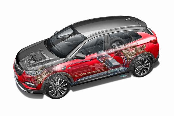 Grandland X ist Opels erster Plug-in