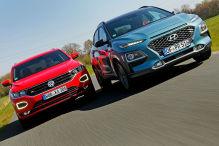 VW T-Roc trifft auf Hyundai Kona
