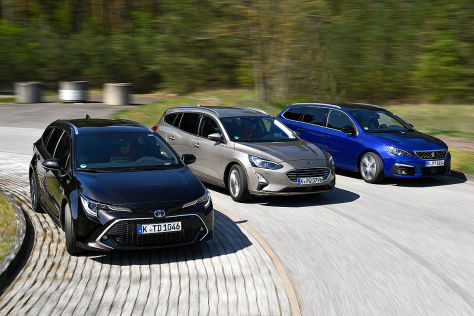 Corolla-Kombi gegen 308 und Focus