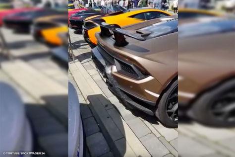 Lamborghini Huracan kracht in Porsche GT3