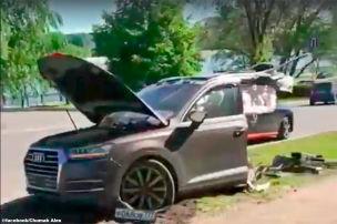 Q7 bei Crash zerrissen, Fahrer geflohen