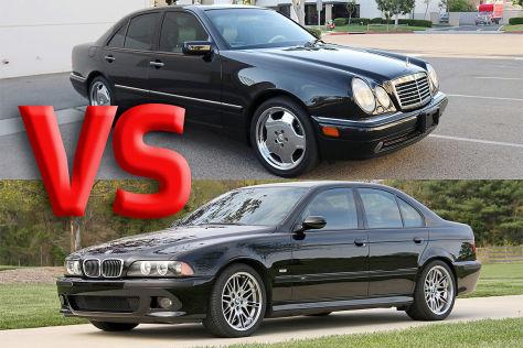 Mercedes E 55 AMG vs. BMW M5