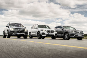 Mercedes GLE, BMW X5, VW Touareg: Test