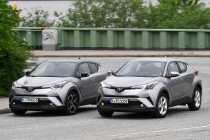 Toyota C-HR: Hybrid gegen Benziner