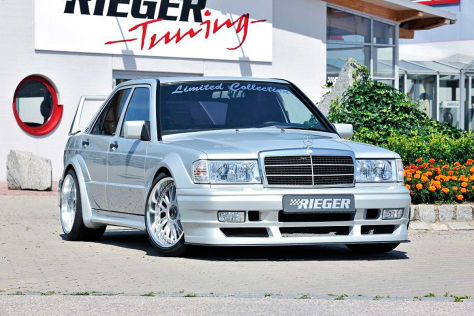 Mercedes 190 Tuning: Rieger Evo III Bodykit - autobild de